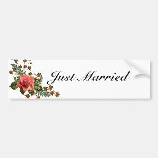 Peach Roses Bumper Sticker