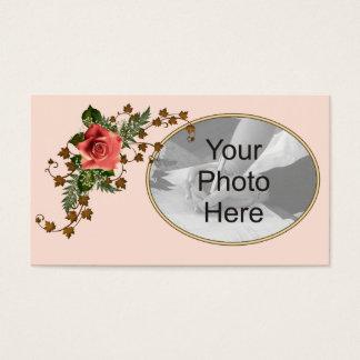 Peach Roses Business Card