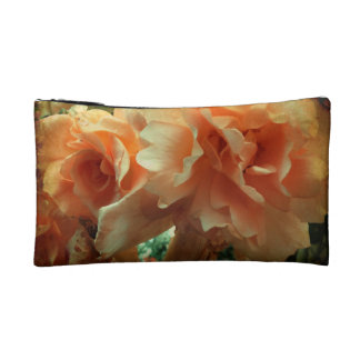 Peach Roses Cosmetic Bags