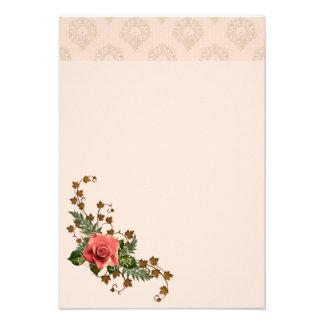 Peach Roses Custom Invites