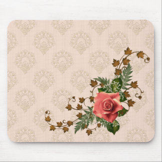 Peach Roses Mouse Pad