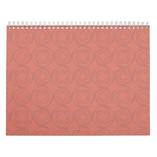 peach roses pattern calendar