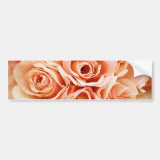 Peach Roses Photo Bumper Sticker