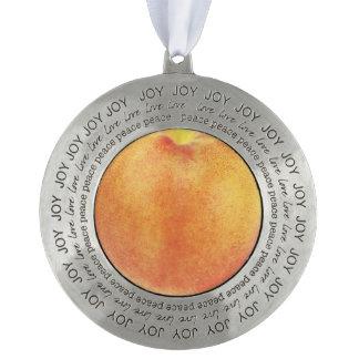 Peach Round Ornament