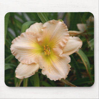 Peach Ruffled Lily Mouse Pad