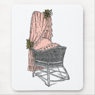 Peach Sage Baby Bassinet Mouse Pad