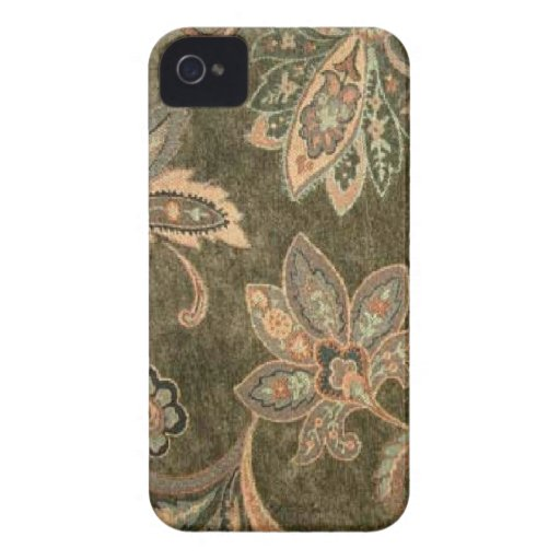 Peach Sage Paisley iPhone 4 Cover