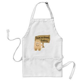 Peach save animal adult apron