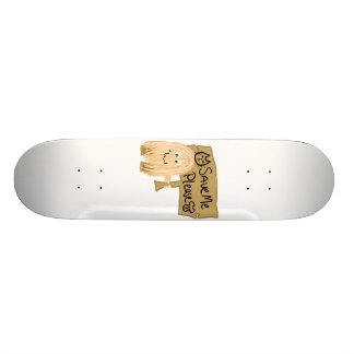 Peach Save Me Skateboard Deck