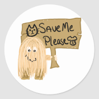 Peach Save Me Sticker