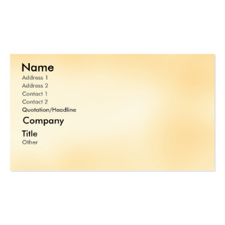 Peach - shaded business card template