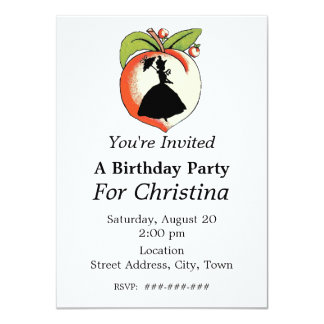 Peach Silhouette Southern Bell Birthday Card