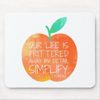 Peach Simplify Mouse Pad