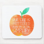 Peach Simplify Mouse Pads