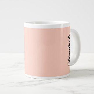 Peach Solid Color Giant Coffee Mug