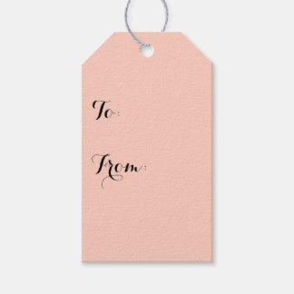Peach Solid Color Pack Of Gift Tags