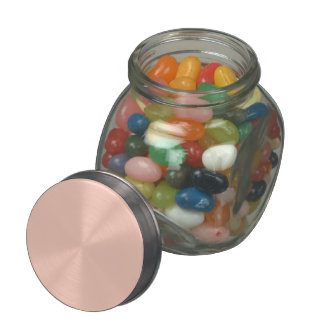 Peach Solid Color Glass Candy Jar