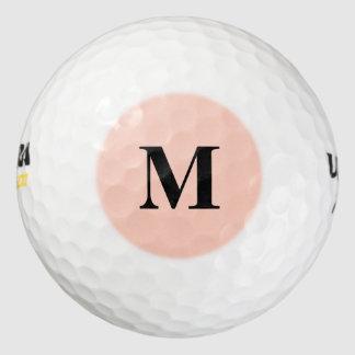 Peach Solid Color Golf Balls