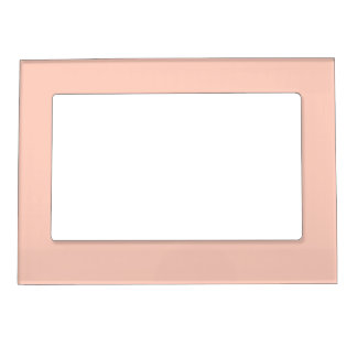 Peach Solid Color Magnetic Photo Frames