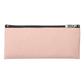 Peach Solid Color Pencil Case