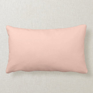 Peach Solid Color Throw Pillow