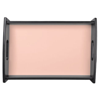 Peach Solid Color Serving Trays