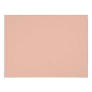 Peach Solid Color Poster