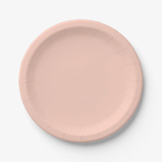 Peach Solid Color 7 Inch Paper Plate