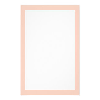 Peach Solid Color Stationery