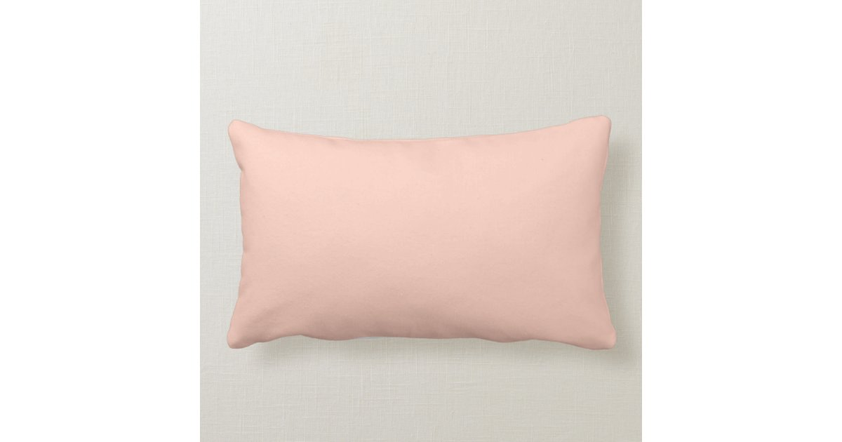 Peach Solid Color Throw Pillow Zazzle
