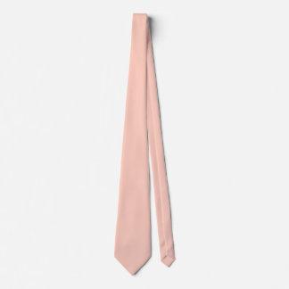 Peach Solid Color Tie