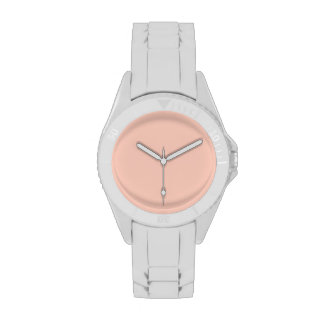 Peach Solid Color Wristwatch