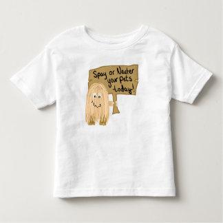 Peach Spay or Neuter Toddler T-shirt