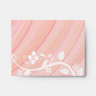 Peach Spirals, Filigree and Flowers Envelope