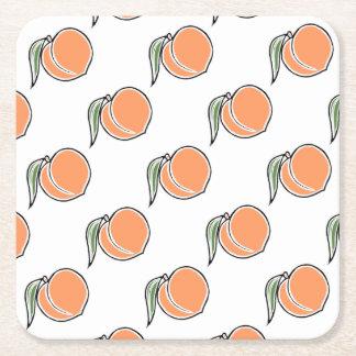 Peach Square Paper Coaster