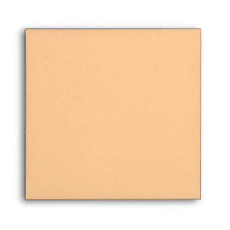 Peach Square Scrollwork Monogrammed Envelopes