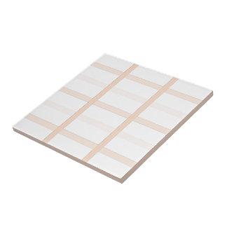 Peach Squared Ceramic Tile