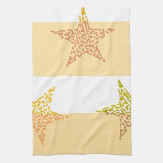 Peach Stars and Stripes Hand Towel