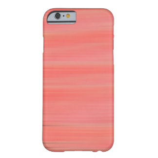 Peach Streaks Barely There iPhone 6 Case