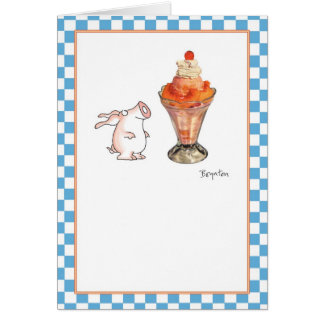 PEACH SUNDAE CARD