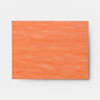 """""""Peach Sunrise"""" A2 Envelope M Monogram"""