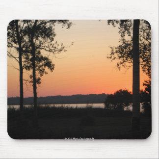 Peach Sunset Over Wilderness Mousepad