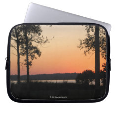 Peach Sunset Over Wildness Neoprene Case Laptop Computer Sleeves