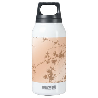 Peach Swirling Vines Insulated Water Bottle