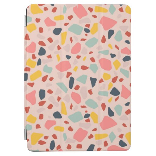 Peach terrazzo design iPad air cover