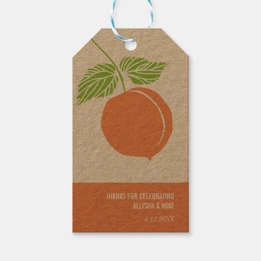 Peach Thank You Gift Tag Baby Shower Bridal Gift Tags