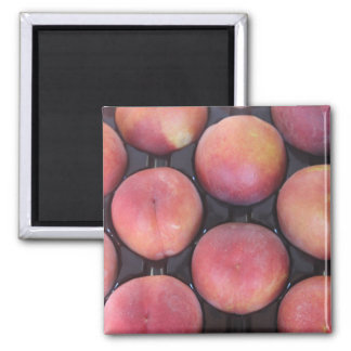Peach Themed 2 Inch Square Magnet