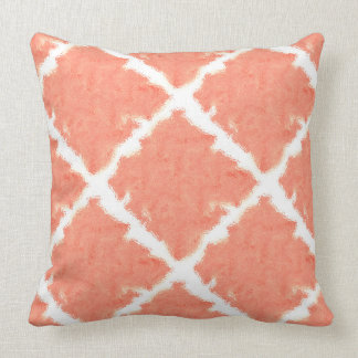 Peach Tie Dye Throw Pillow