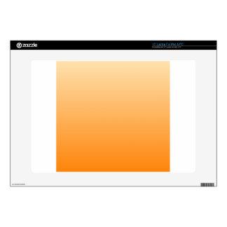 "Peach to Orange Horizontal Gradient 15"" Laptop Decal"