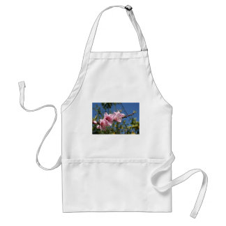 Peach Tree Blossom Against Blue Sky Adult Apron